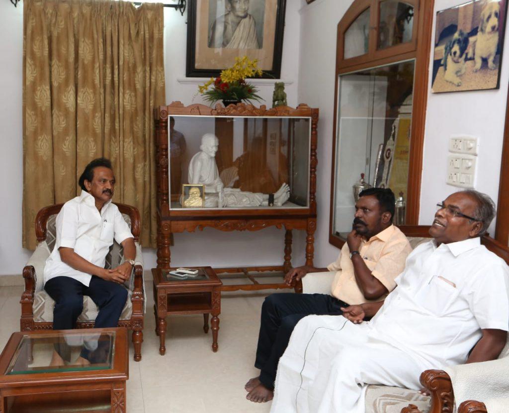 vck thirumavalavan visit karunanidhi