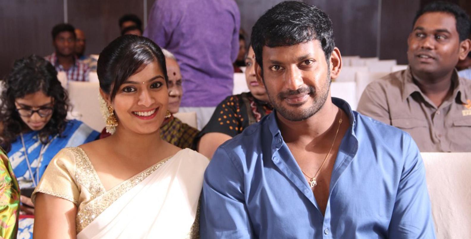 Varalaxmi Sarathkumar with Vishal