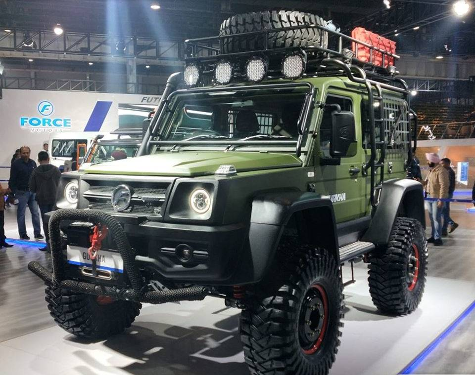 Auto expo motor show 2020 photo gallery of newly launched vehicles, Force Motors Ltd.'s Gurkha